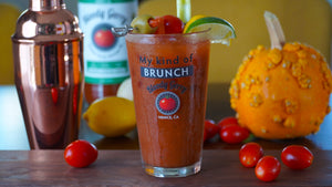 Brunch Gift Set Bloody Gerry Bloody Mary Mix and Two Bloody Gerry Brunch Glasses