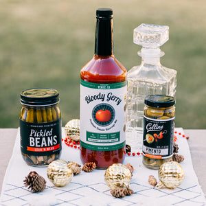 Bloody Mary Gift Set with Spicy Pickled Beans & Collins Olives