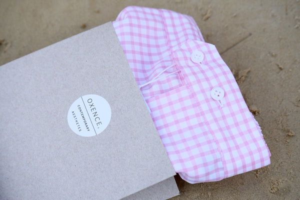 The Oxence men underwear in pink check