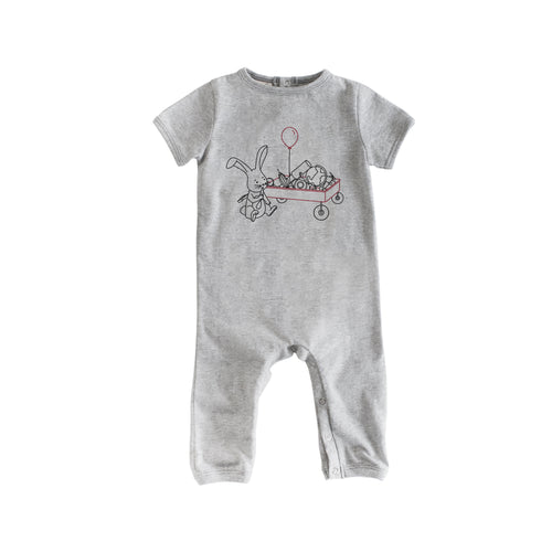 Short Sleeve Grey Wagon Romp