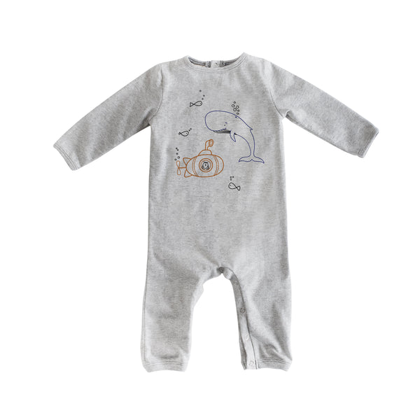 Long Sleeve Grey Submarine Romp