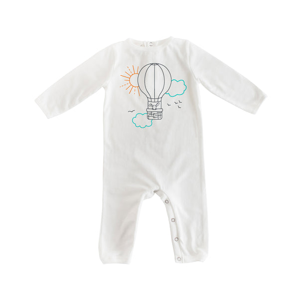 Balloon Romper (White)