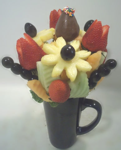Caring Fruit Flower Arrangement Mug