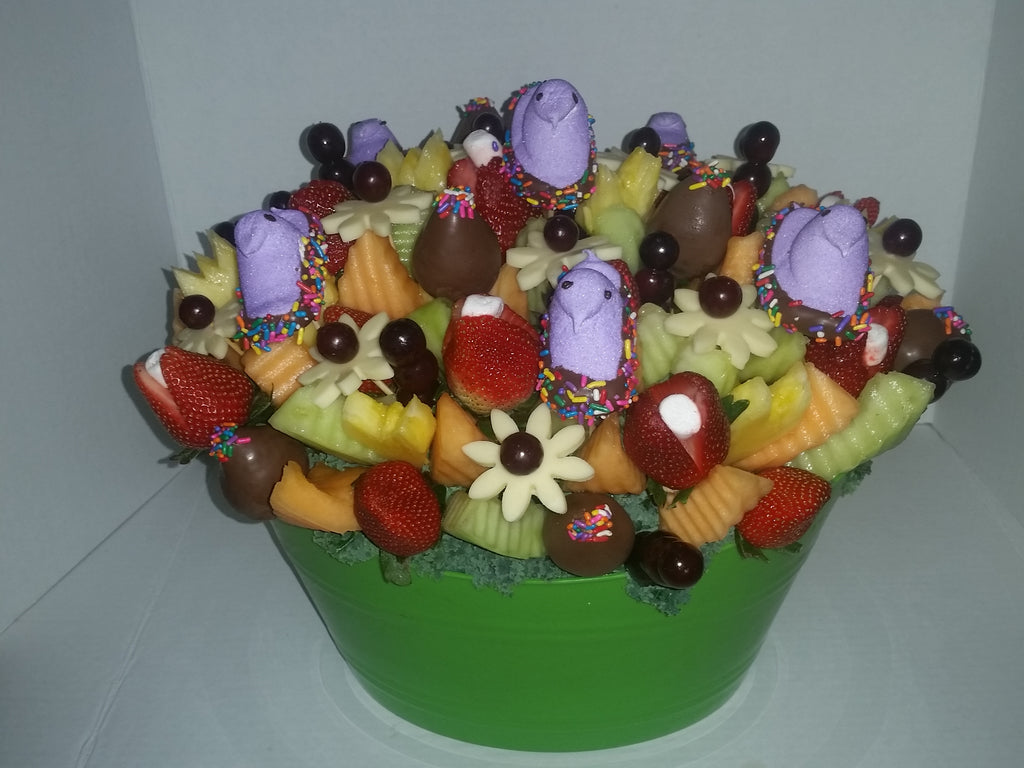 Easter Chick's Tutti Fruitti sweet fruit arrangement