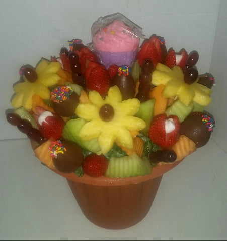 Happy Birthday Tutti Fruitti edible fruit creation