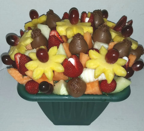 Sympathy Medium Tutti Fruitti With Chocolate Covered Strawberries