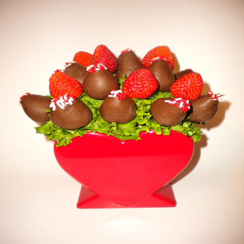 Open Valentines  Day Chocolate Berry Sweetheart