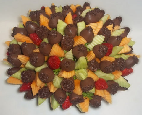 Large La Chocolateire' Chocolate Fruit Arrangement