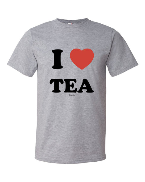 I Heart Tea T-Shirt Heather Grey