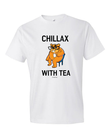 Chillax with Tea White T-Shirt - Unisex