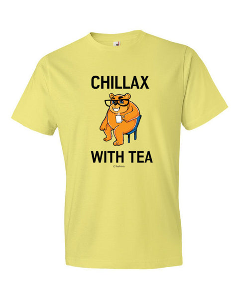Chillax with Tea Spring Yellow T-Shirt - Unisex