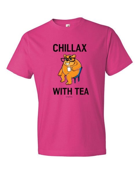 Chillax with Tea Hot Pink T-Shirt - Unisex