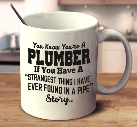 You Know You're A Plumber If You Have A ''Strangest Thing  I Have Ever Found'' Story