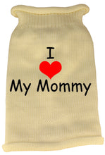 I Heart Mommy Screen Print Knit Pet Sweater