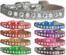 Pearl and Clear Jewel Ice Cream Cat Safety Collar