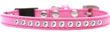 Pearl and Clear Jewel Breakaway Cat Collar