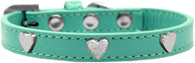 Silver Heart Widget Dog Collar