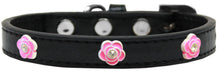 Bright Pink Rose Widget Dog Collars