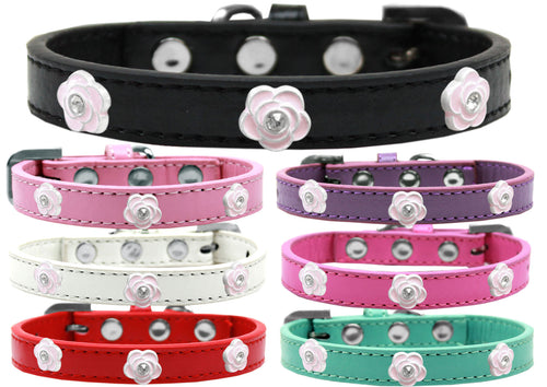 Light Pink Rose Widget Dog Collar
