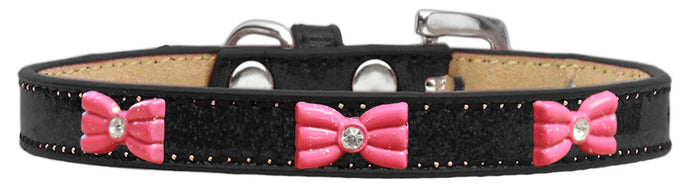 Pink Glitter Bow Widget Ice Cream Dog Collars