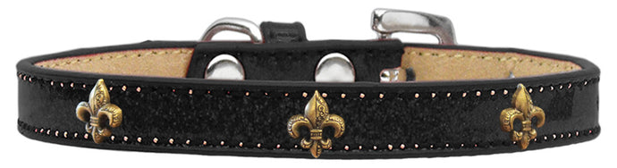 Bronze Fleur De Lis Ice Cream Pet Collars