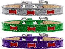 Red Bone Widget Ice Cream Dog Collar