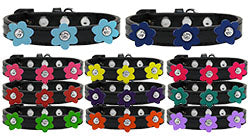 Flower Premium Dog Collar Black