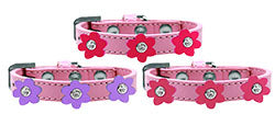 Flower Premium Pet Collar, Light Pink