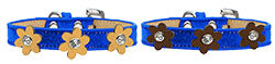 Metallic Flower Ice Cream Collar Blue
