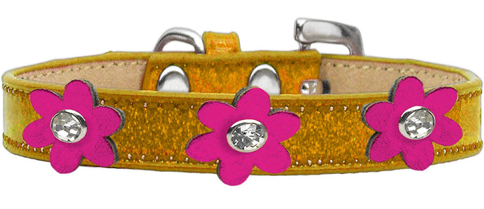 Metallic Flower Ice Cream Collar Gold