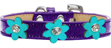 Metallic Flower Ice Cream Collar Purple