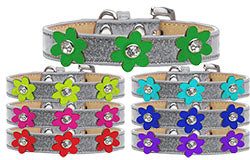 Metallic Flower Ice Cream Collar Silver