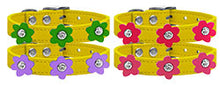 Flower Leather Collar Yellow