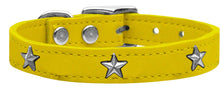 Silver Star Widget Leather Dog Collar