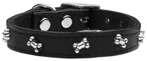 Fashion Leather Collars with Bone Studs