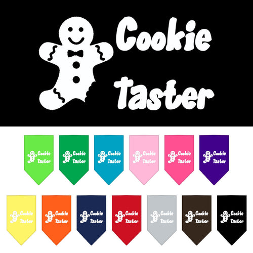 Cookie Taster Screen Print Dog Bandana