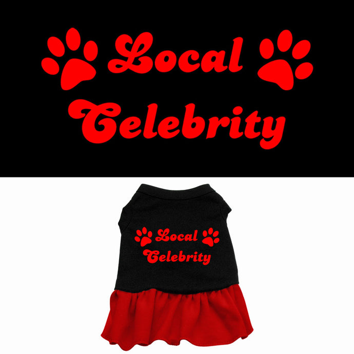 Local Celebrity Screen Print Dog Dress