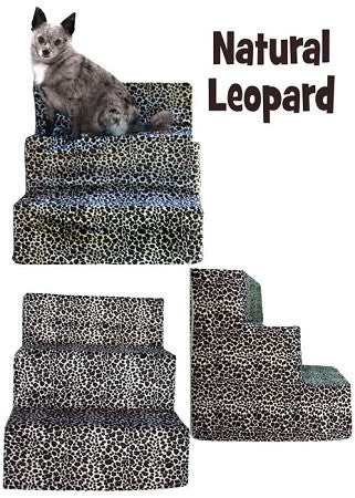 Leopard Velour Pet Steps