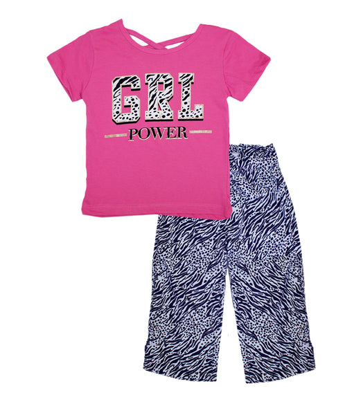 -GIRLS PINK GRL Power Screen Top with Palazzo Pants