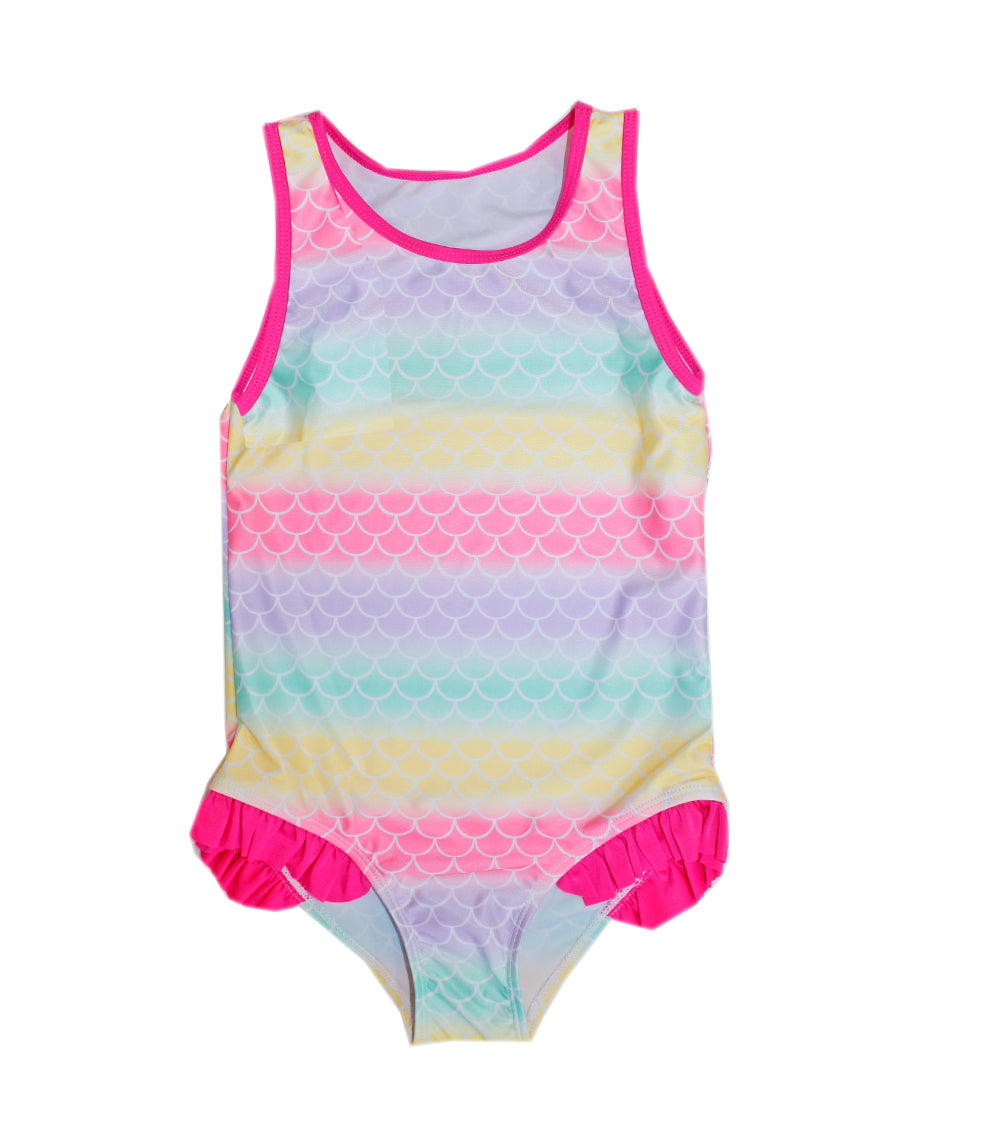 -Girls One Piece Swimwear With Ruffle On Panty