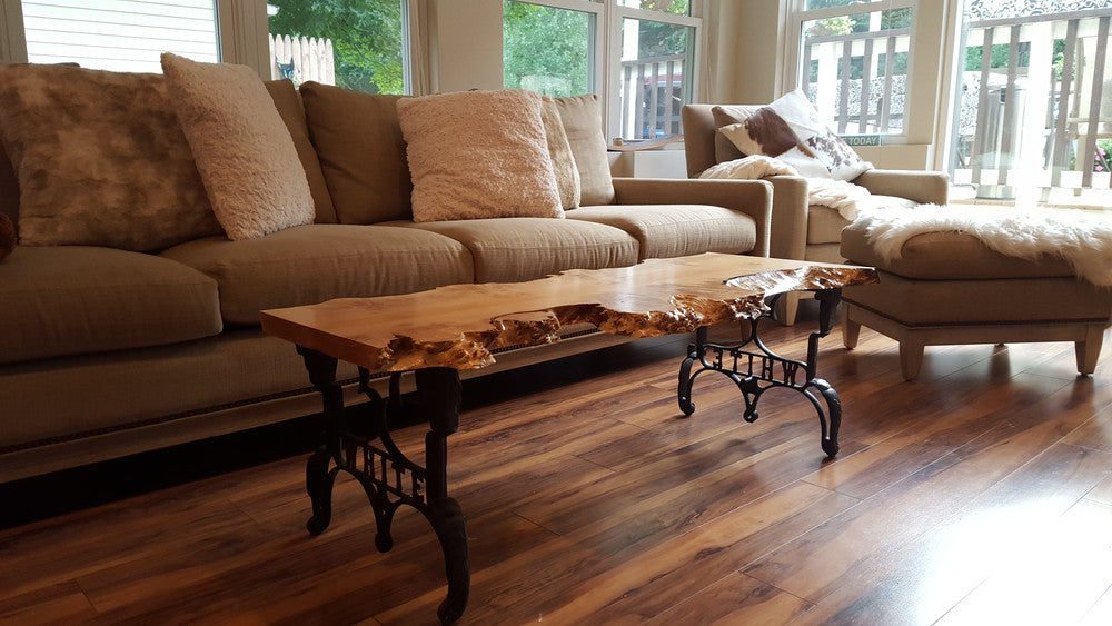 A beautiful big leaf maple coffee table