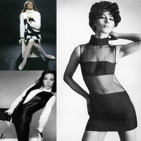 John Bates aka Jean Varon fashion collage of 1960s mod Avengers designs