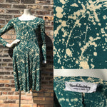 1980's Diane Von Furstenberg Splatter Dress