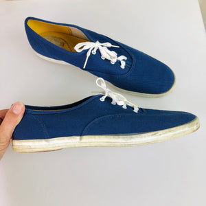 1970's Navy Canvas Sneakers