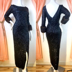 1960's Gene Shelley Sequin Ultra Wiggle Dress