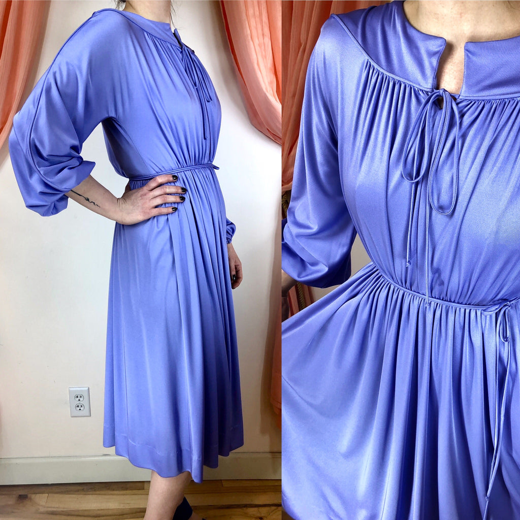 1970's Gathered Donald Brooks Dress