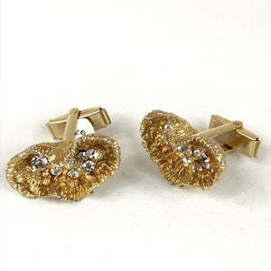 Gold Geode Cufflinks with  Gems