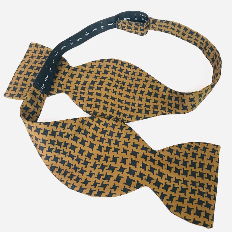 "1970's ""Houndstooth"" Big Bowtie"