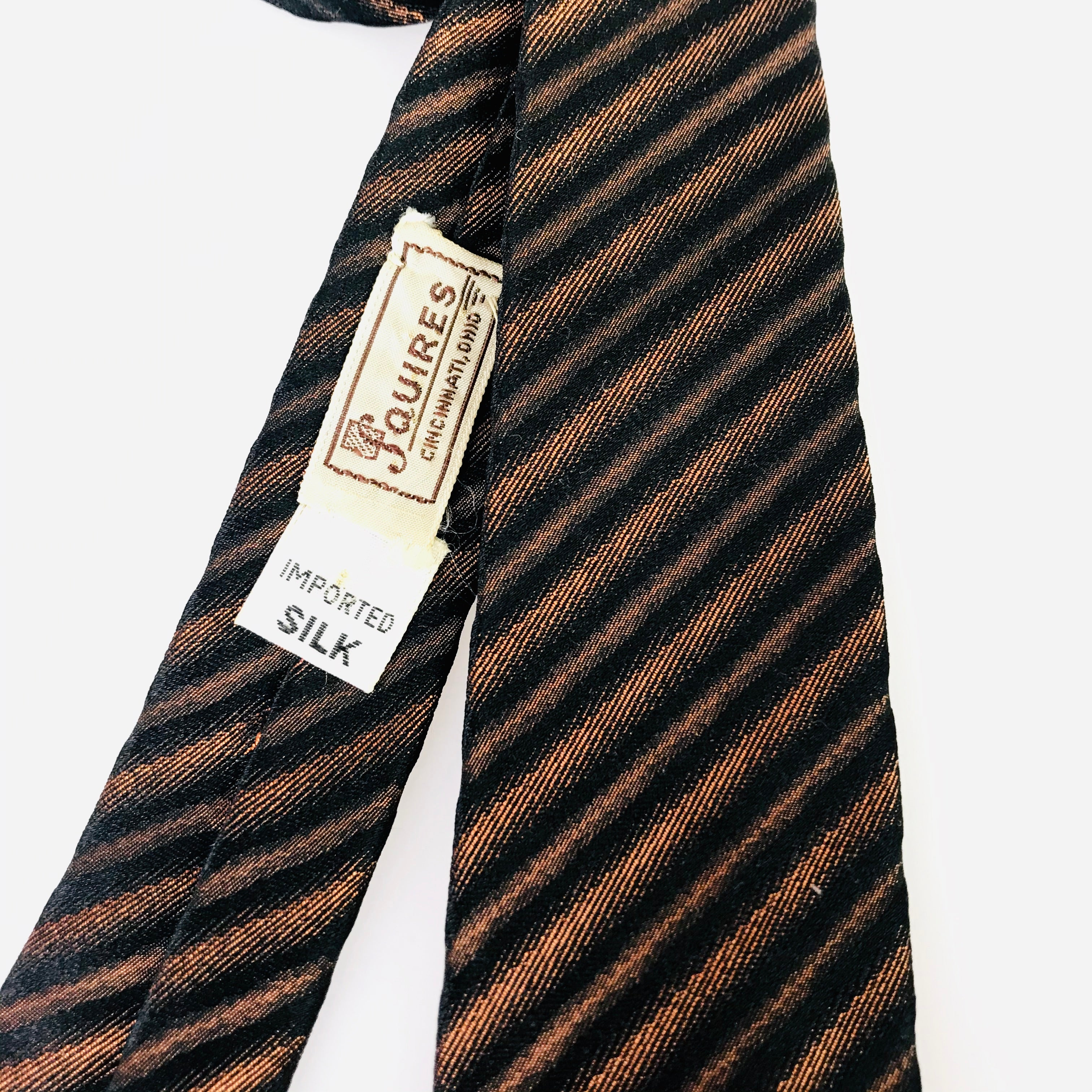 1960's Diagonal Tiger Stripe Tie