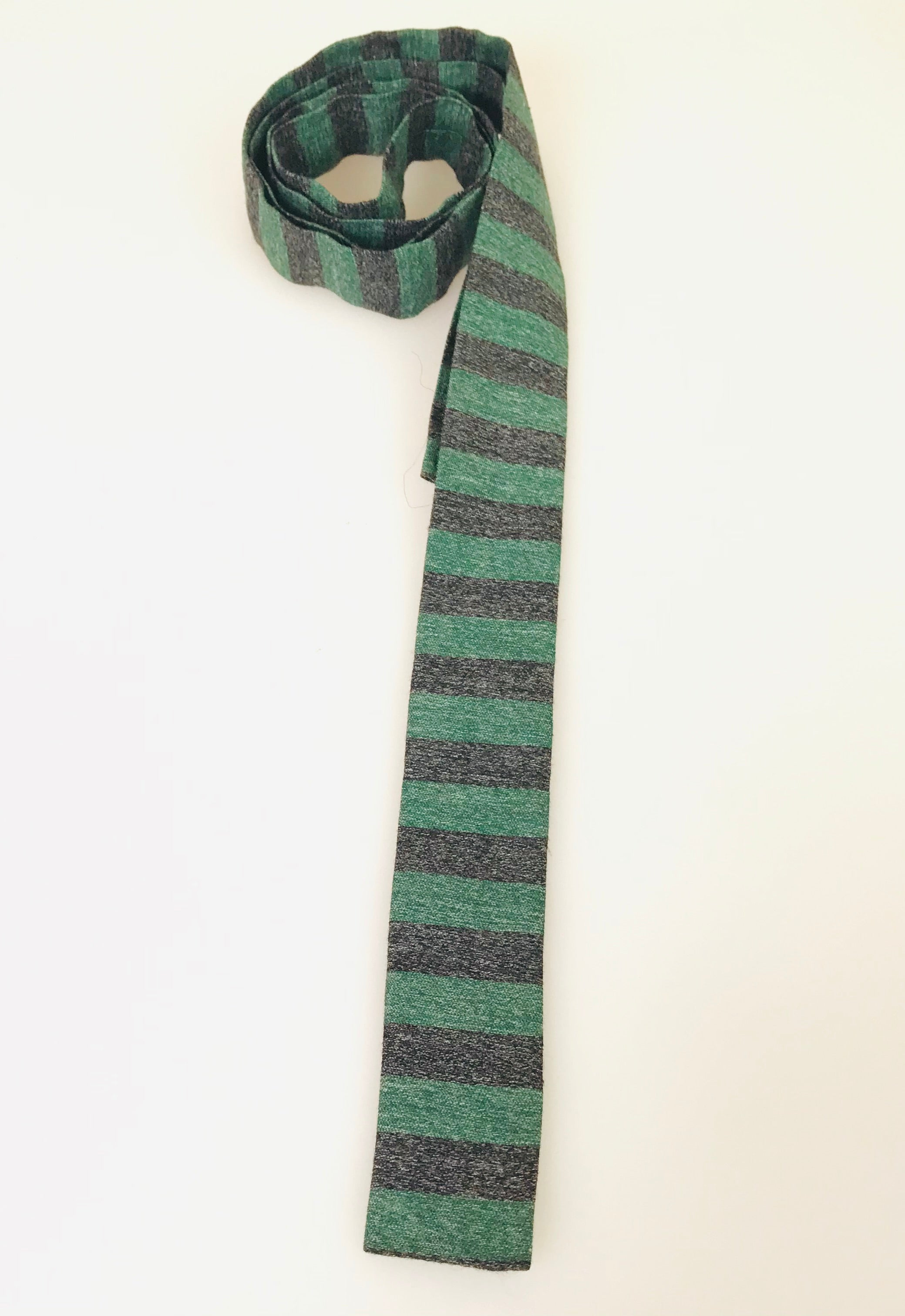 1960's Striped Flat Bottom Tie